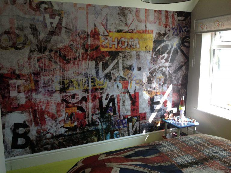 Celebrate Success with teenage boys graffiti bedroom