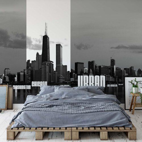 City Skyline Photo Wallpaper Mural